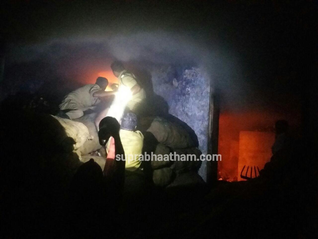 കോടതിക്കു സമീപത്തെ കൊപ്ര ബസാറില് തീ പിടിച്ചപ്പോള്