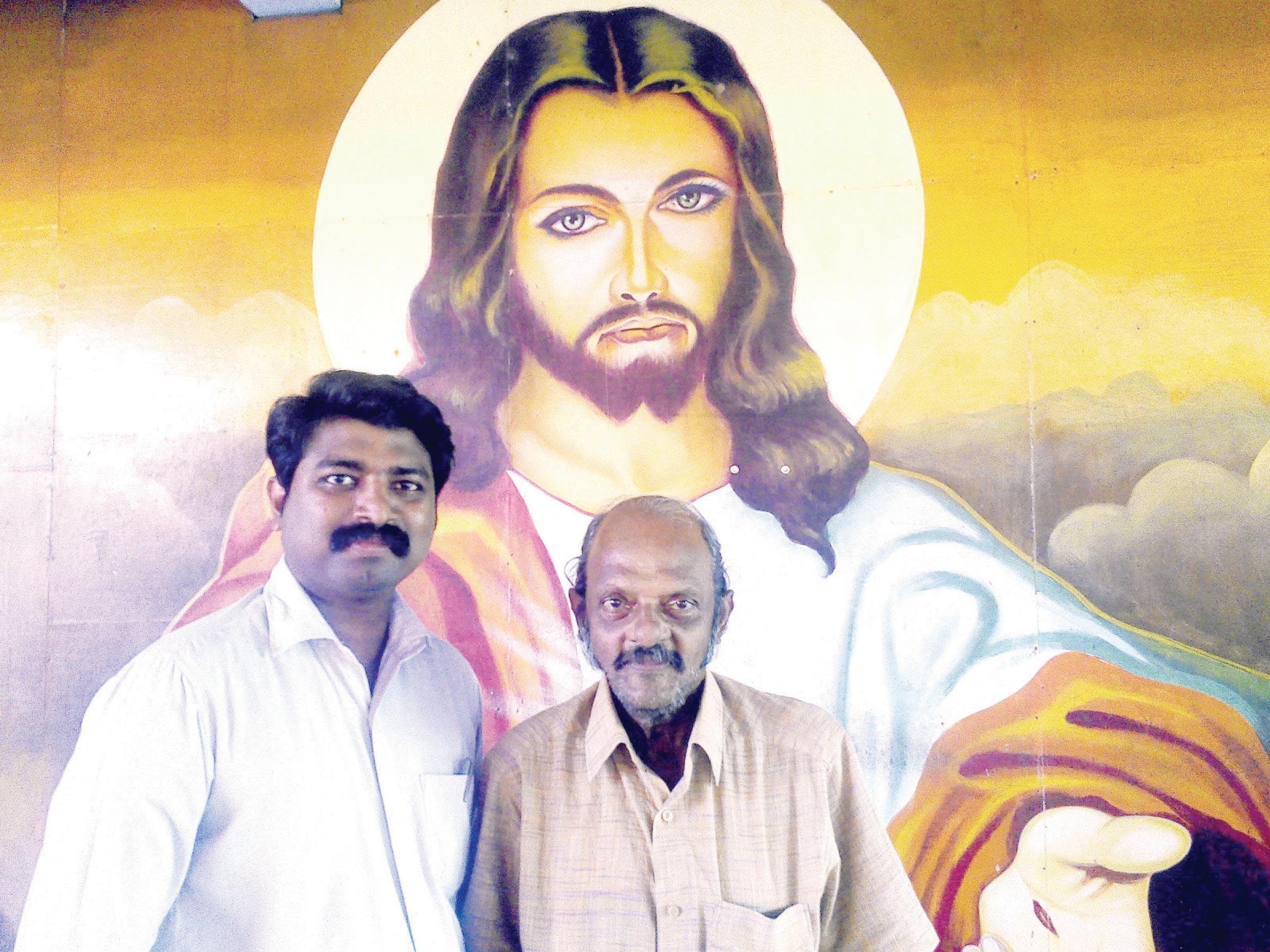 മുന്ഷി വേണു  ജോഫിന് ജോസഫിനൊപ്പം